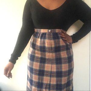 Pendleton tartan wool skirt